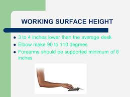 Height Of Average Desk Office Ergonomics Safety Tips Ppt Online Download