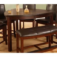 triangle dining room table best quality d876 dark cherry counter height triangle dining table