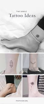 small ankle tattoos popsugar