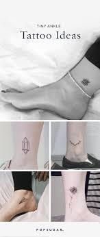 small ankle tattoos popsugar