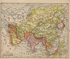 Asia Maps 1908 Antique Asia Map Pretty Vintage Map Of Asia Gallery Wall Art