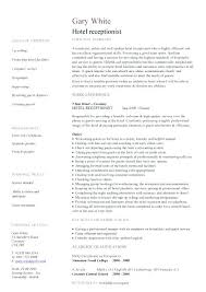 resume example for receptionist resume example and free resume maker