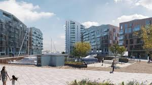 revealed 100m plans for new marina 374 homes and retail units