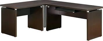 southern enterprises corner desk espresso corner desk coaster 3 espresso wood finish l shaped