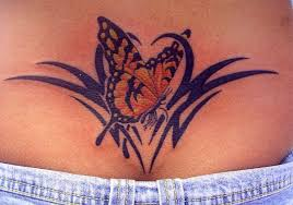 with lower back tribal design