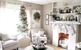 Mantel Fireplace Decorating Ideas - christmas living room decorating ideas wood frame fireplace white