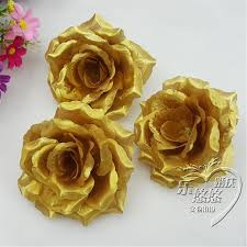 roses wholesale wholesale 100pcs lot gold roses artificial silk flower heads