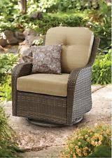 outdoor wicker chair swivel rocking steel frame glider porch patio