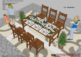 Plans For Patio Table by Home Garden Plans Ds100 Dining Table Set Plans Woodworking