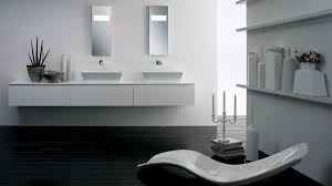 bathroom ideas rectangular white contemporary modern wall