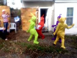 moving bernie teletubby style