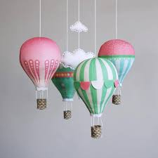 Modern Nursery Decor Nursery Decor Diy Baby Mobile Kit Air Balloon Modern Nursery