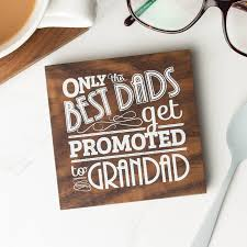 grandad quote wood coaster by create gift love