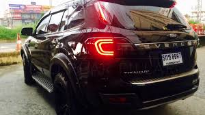 Ford Everest Facelift ไฟเสาท าย Ford Everest By Zpracing Youtube