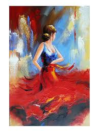 modern paint amazon com wieco art flying skirt modern artwork abstract