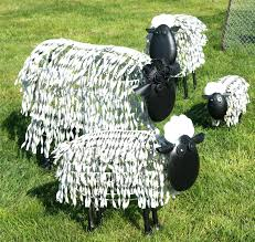 ferndown flock sheep sculptures wildlife farm animal garden