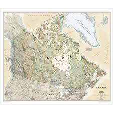 Canada Maps by Canada Executive Wall Map National Geographic Store