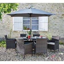 Grey Rattan Outdoor Furniture by The Collection Fiji 6 Seater Rattan Patio Set Grey The Official