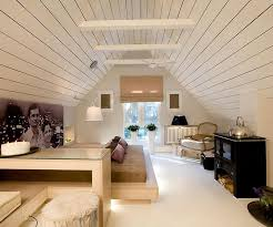Small Attic Bedroom Ideas by Awesome Small Attic Bed Room Idea With Craetif Ceilingdesign Idea