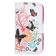 a 557 butterfly pattern flip open pu cover w stand
