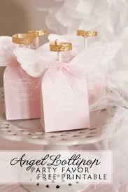 Baptism Invitations Free Printable Christening Angel Wing Lollipop Birthday Party Favor Tutorial Free Printable
