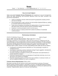 resume summary exles customer service customer service summary of qualifications resume vesochieuxo