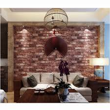 2 colors 3d wall paper 10m roll faux brick wallpaper retro style