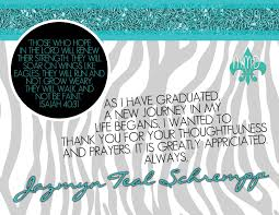 thank you graduation cards custom graduation announcement and thank you card merely