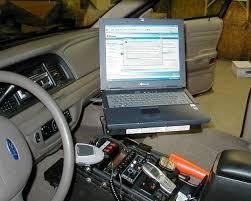 Laptop Steering Wheel Desk Police Car Laptops