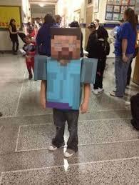 Halloween Minecraft Costumes Homemade Minecraft Skeleton Costume Halloween