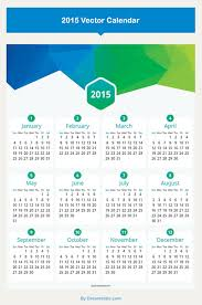 15 free 2015 vector calendar design templates designfreebies