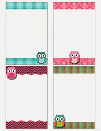free printable owl notecards crafts free