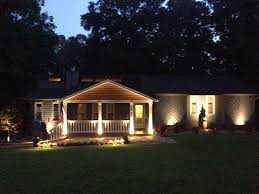 Lights In Soffit Outside by Backyard Flood Light Installation Home Outdoor Decoration