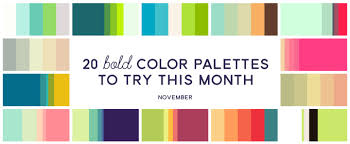 bold color 20 bold color palettes to try this month november 2015 creative