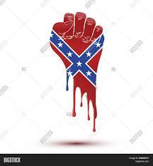 Confederate Flag Clip Art Symbol Blood Flow Clenched Fist Vector U0026 Photo Bigstock