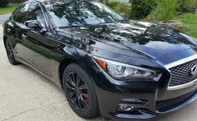 Black Rims For Mustang Mydippedwhips Infiniti Q50 Red Calipers With Glossy Black Rims
