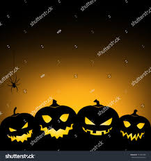 vintage moon pumpkin halloween background halloween pumpkin background card invitation stock vector