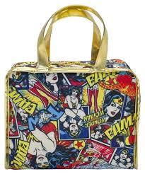 Wonder Woman Accessories New Wonder Woman Travel Case Make Up Bag Satchel Dc Comic Print On