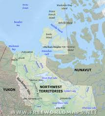 Canada Territories Map by Physical Map Of Northwest Territories