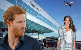 how prince harry and meghan markle sneak out of heathrow airport