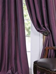 Purple And Cream Striped Curtains Faux Taffeta Drapes Foter