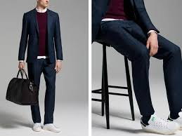 Here 39 s how to look sharp wearing a suit with sneakers business