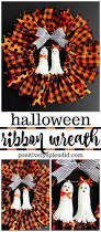 halloween ribbon wreath easy diy halloween wreath tutorial