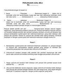 format surat kuasa jual beli rumah contoh surat resmi perjanjian jual beli tanah 8 pasal didalamnya