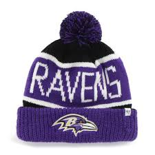 baltimore ravens calgary purple and black pom pom beanie