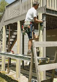 How To Build A Pergola On An Existing Deck by Make An Old Deck Safe Fine Homebuilding