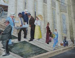 an american small town and western carolina barbecue i never unpack in the first block of west fisher street native salisbury artist cynthia arthur rankin has painted a magnificent mural of life in salisbury at the turn