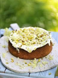 pistachio yoghurt u0026 elderflower cake jamie oliver