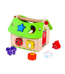 posting house shape sorter from lelin from the wooden toybox