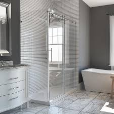 shop bathtub shower door glass at lowes com ove decors sydney 78 75 in h x 30 25 in w shower glass panel